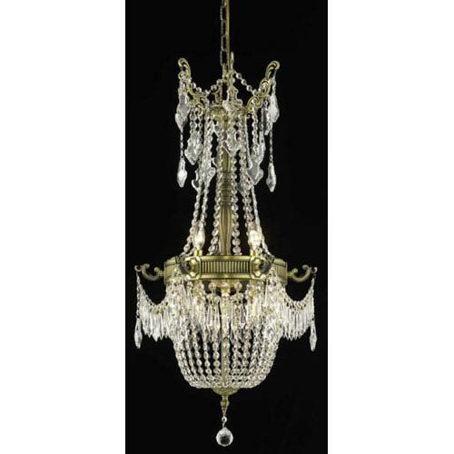 Elegant Lighting Esperanza Antique Bronze Six-Light Chandelier with Clear Royal Cut Crystals