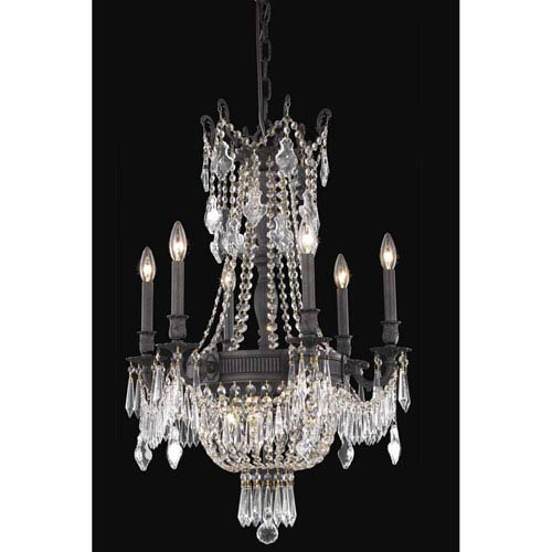 Elegant Lighting Esperanza Dark Bronze Nine-Light Chandelier with Royal Cut Crystal