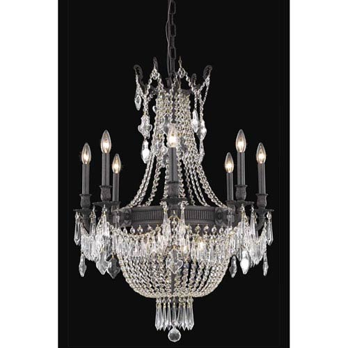 Elegant Lighting Esperanza Dark Bronze 12-Light Chandelier with Royal Cut Crystal