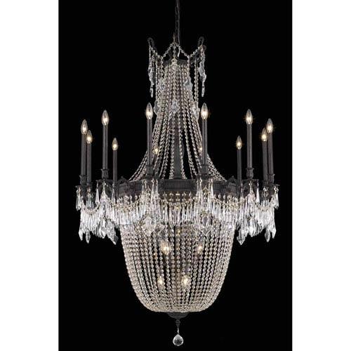 Elegant Lighting Esperanza Dark Bronze 22-Light Chandelier with Royal Cut Crystal