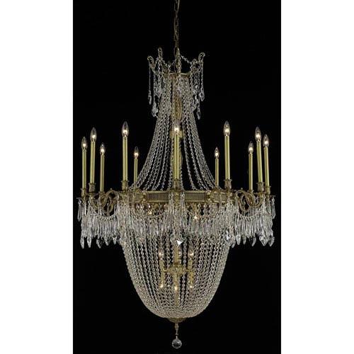 Esperanza French Gold 22-Light Chandelier with Swarovski Strass/Elements Crystal