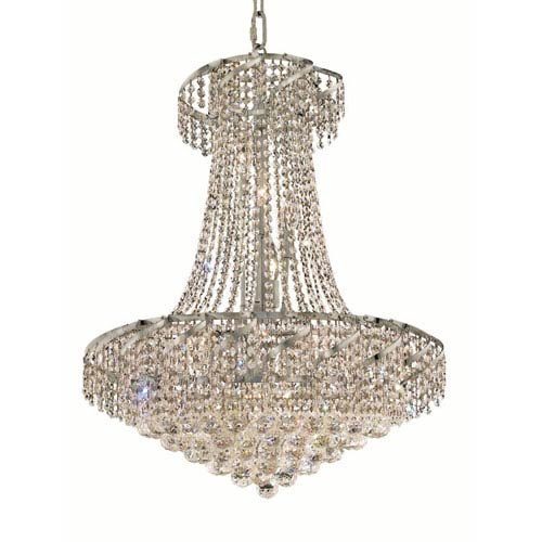 Elegant Lighting Belenus Chrome Fifteen-Light 26-Inch Chandelier with Royal Cut Clear Crystal