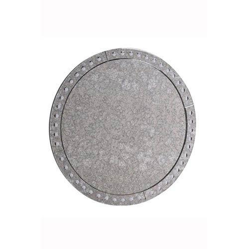 Antique Clear 36-Inch Round Mirror