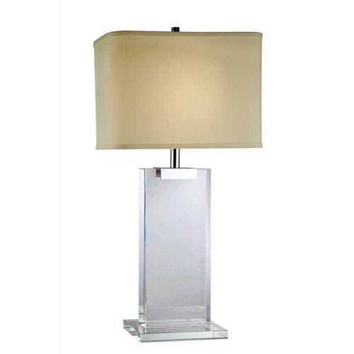 Elegant Lighting Regina Chrome Thirty-Inch Table Lamp