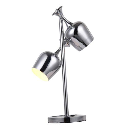 Chrome Fifteen-Inch Table Lamp
