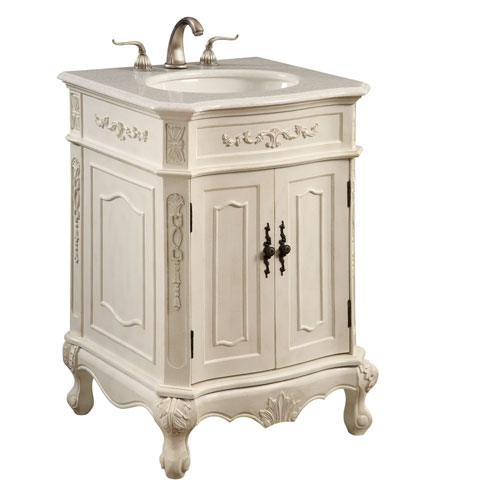 Antique White Vanity Cabinet Only