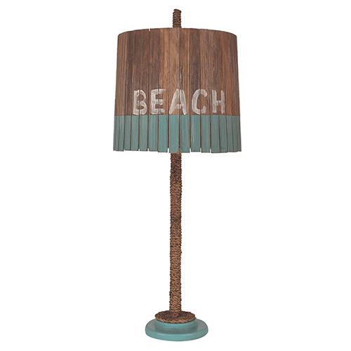 Coastal Living Antique Turquoise Sea One-Light Table Lamp