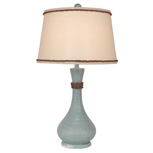 Coastal Living Weathered Atlantic Gray One-Light Genie Bottle Table Lamp