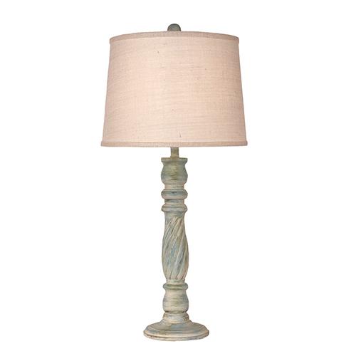Coastal Living Shabby Summer One-Light Swirl Table Lamp