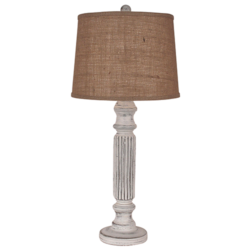 Coastal Living Silver One-Light Ribbed Table Lamp