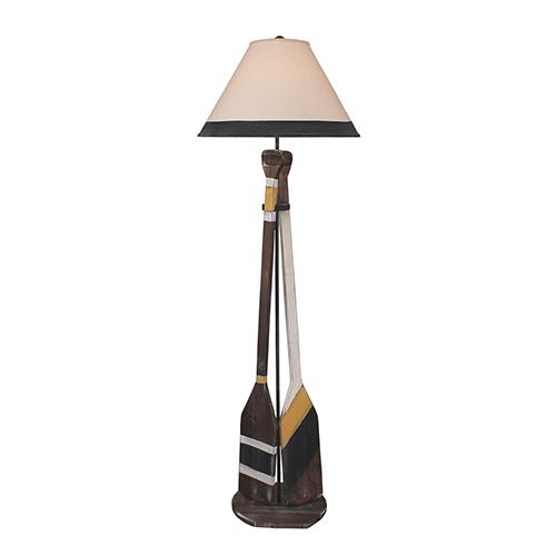 Coastal Living Weathered Walnut One-Light 62-Inch Floor Lamp