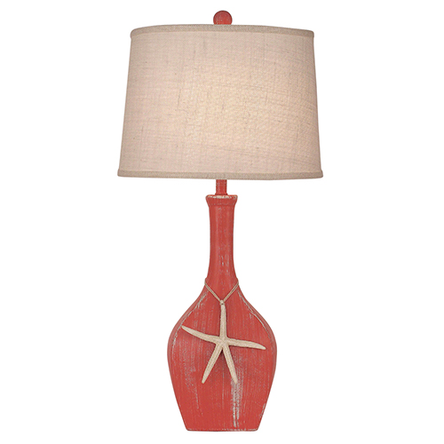 Coastal Living Weathered Coral One-Light Ovale Genie Table Lamp