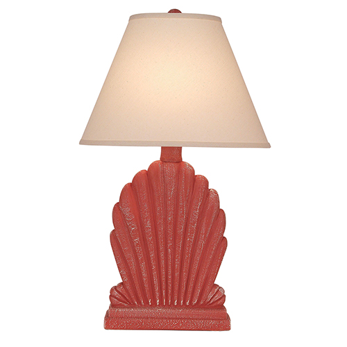 Coastal Living Weathered Coral One-Light Fan Shell Table Lamp