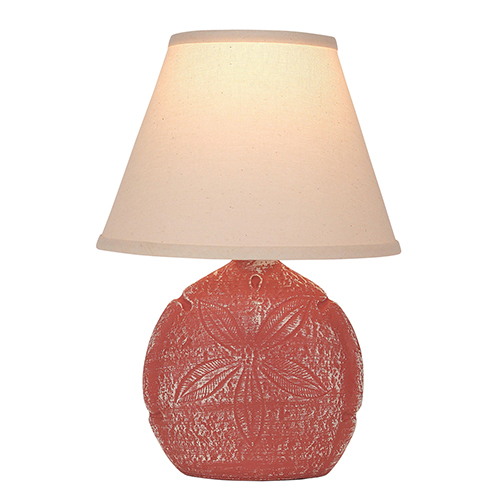 Coastal Living Weathered Coral One-Light Sand Dollar Table Lamp