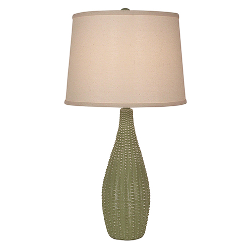 Coastal Living Weathered Lime One-Light Beaded Vase Table Lamp