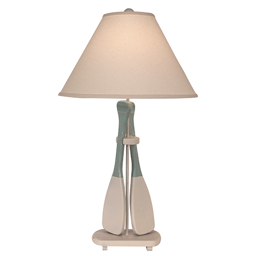 Coastal Living Weathered Nude One-Light Two-Paddle Table Lamp