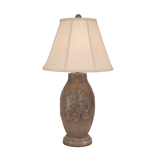 Casual Living Cottage Glaze One-Light Band of Leaves Table Lamp