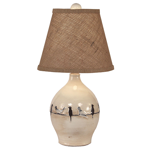 Casual Living Distressed Nude One-Light 19-Inch Table Lamp