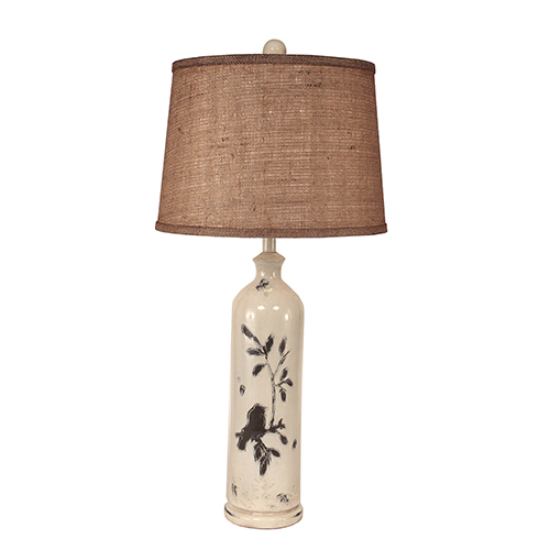 Coast Lamp Manufacturing Casual Living Distressed Nude One-Light 29-Inch Table Lamp
