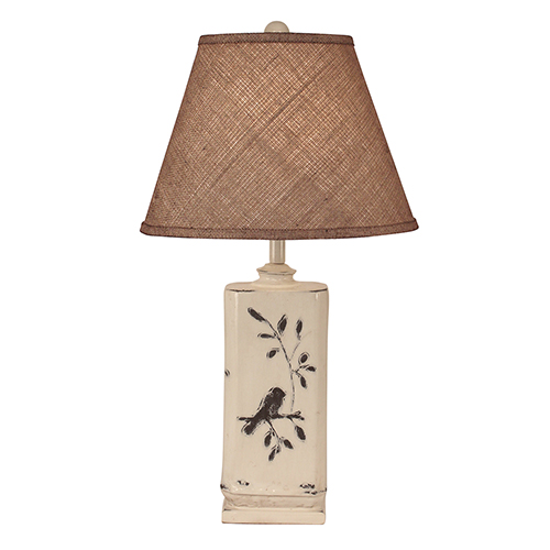Coast Lamp Manufacturing Casual Living Distressed Nude One-Light Table Lamp