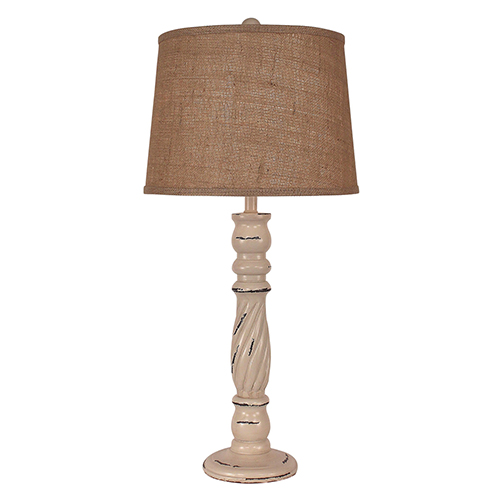 Coast Lamp Manufacturing Heavy Distressed Cottage One-Light Table Lamp