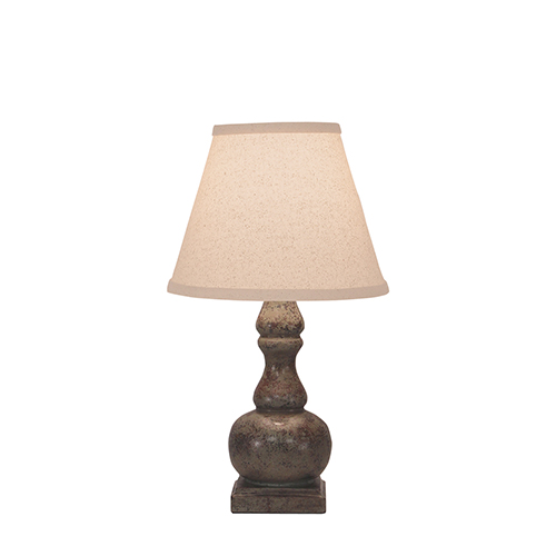 Casual Living Tarnished Pale Gray One-Light Table Lamp