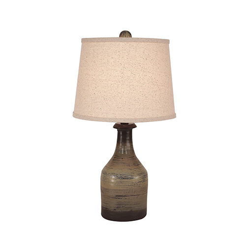Casual Living Earthstone One-Light Clay Jug Accent Lamp