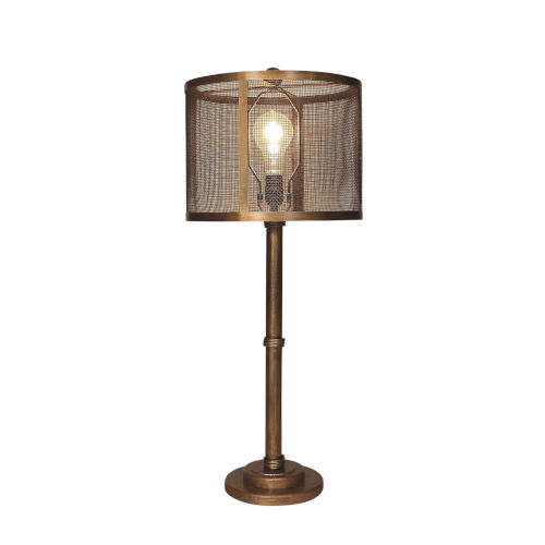 Casual Lighting Gold Brushed One-Light Table Lamp