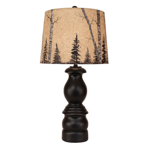 Rustic Living Antique Black One-Light Table Lamp