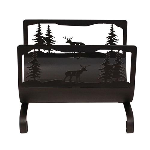 Coast Lamp Manufacturing Rustic Living Kodiak Deer Scene Wood Holder
