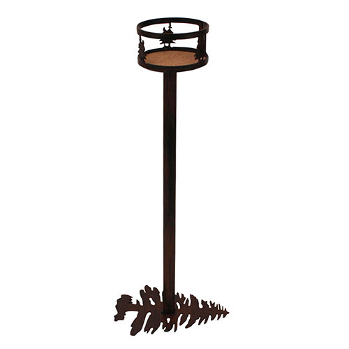 Rustic Living Burnt Sienna Iron Double Tree Band Drink Holder with Pine Tree Base