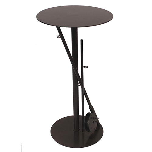 Rustic Living Rust Iron Fishing Pole Drink Table