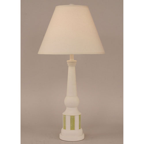 Coastal Living Weathered Nude and Lime One-Light Table Lamp