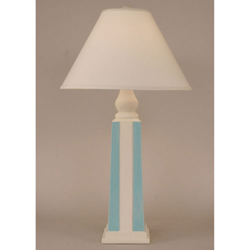 Coast Lamp Manufacturing Coastal Living Weathered Nude and Turquoise One-Light Table Lamp