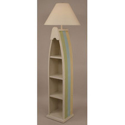 Coastal Living Cottage One-Light Boat Floor Lamp with Shelf