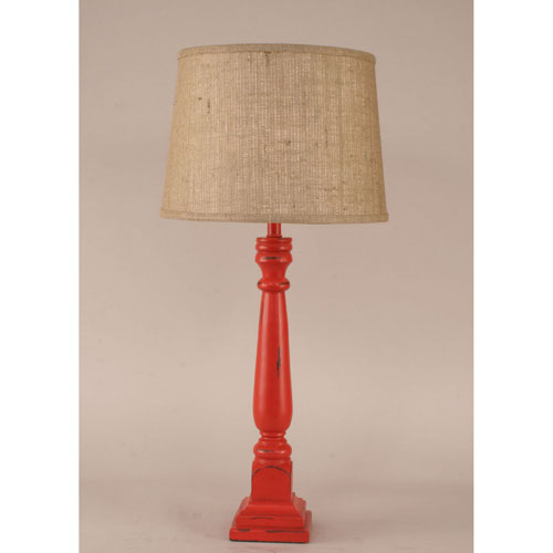 Coastal Living Heavy Distressed Classic Red One-Light Buffet Lamp