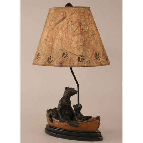 Coast Lamp Manufacturing Rustic Living Kodiak with Honey Accent One-Light Table Lamp