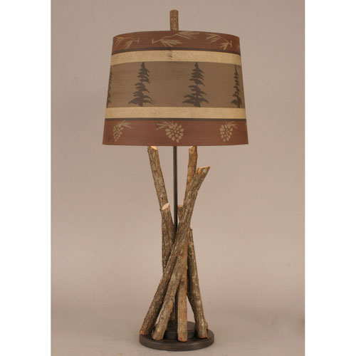 Coast Lamp Manufacturing Rustic Living Rust Streak One-Light Table Lamp