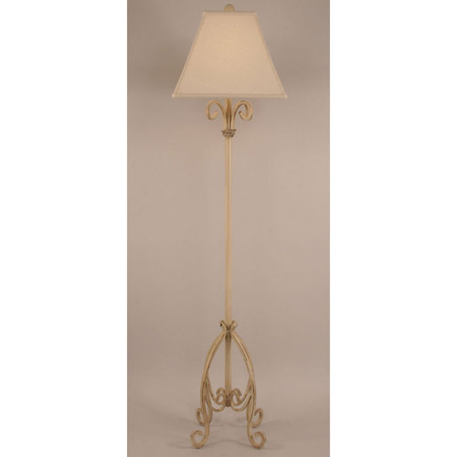 Rustic Living Heavy Distressed Cottage One-Light Floor Lamp