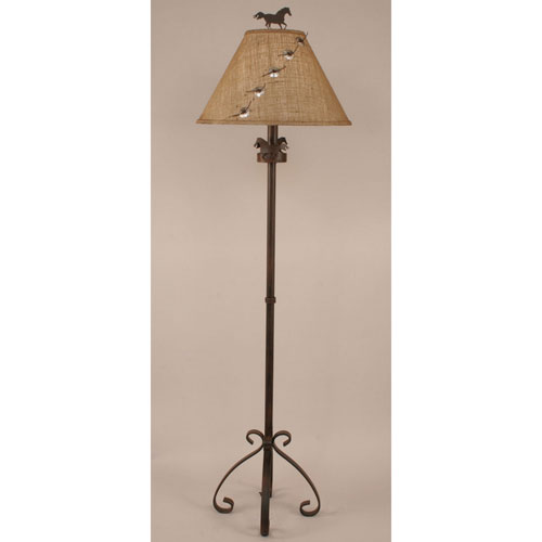 Rustic Living Rust Streak One-Light Floor Lamp