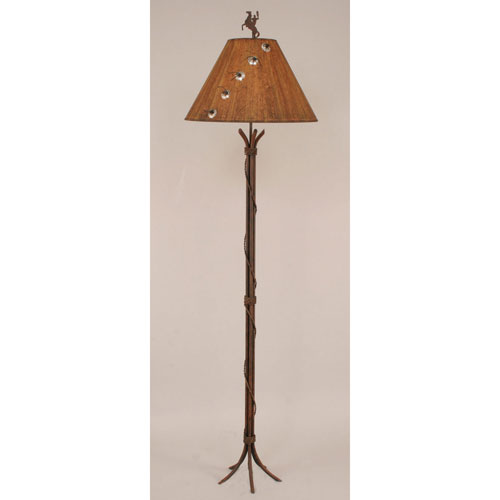 Coast Lamp Manufacturing Rustic Living Rust One-Light Floor Lamp