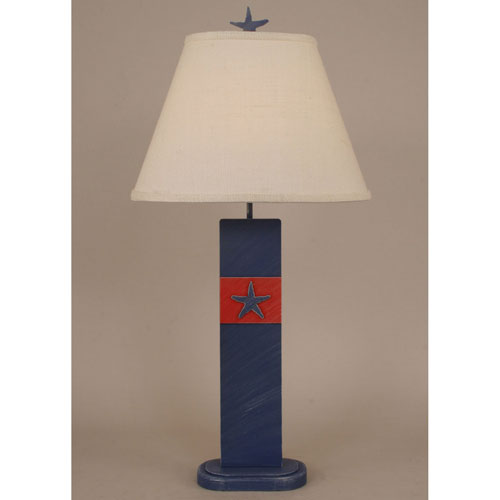 Coastal Living Cottage Morning Jewel and Classic Red One-Light Table Lamp