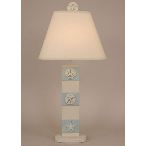 Coastal Living Cottage and Atlantic Grey One-Light Table Lamp