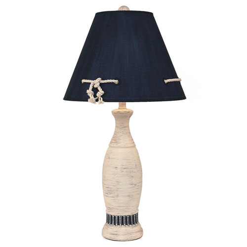 Coastal Living Cottage with Navy Accent One-Light Table Lamp