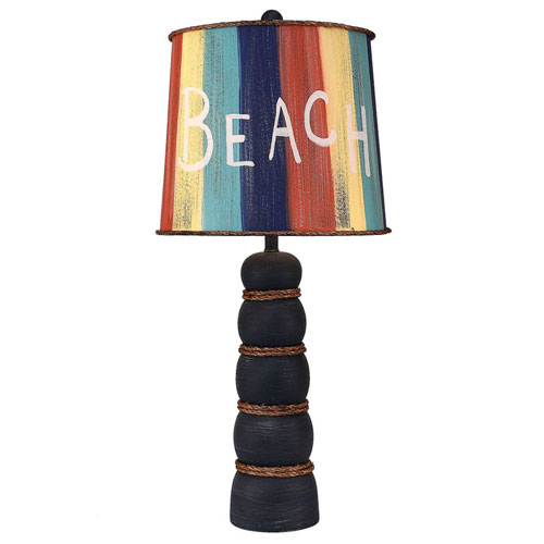Coast Lamp Manufacturing Coastal Living Weathered Navy One-Light Table Lamp