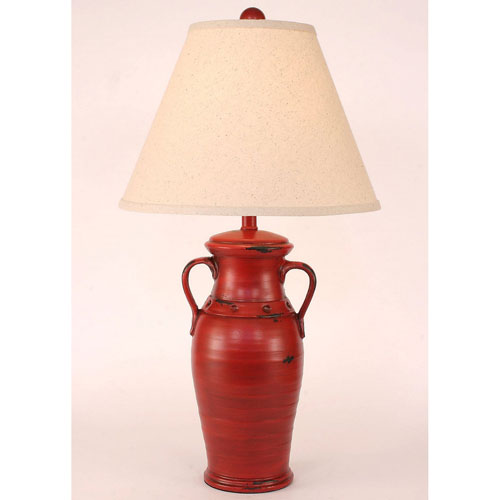 Casual Living Heavy Distressed Brick Red One-Light Table Lamp