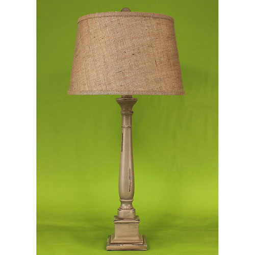 Coast Lamp Manufacturing Casual Living Heavy Distressed Grey One-Light Table Lamp