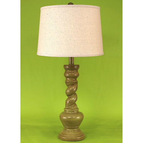 Coast Lamp Manufacturing Casual Living High Gloss Lime Glaze One-Light Table Lamp