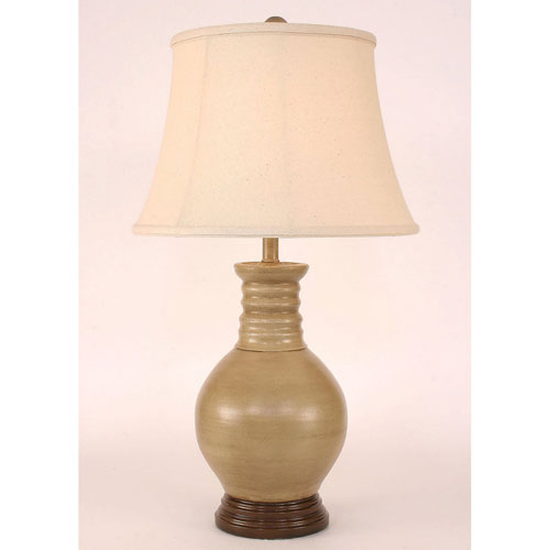Coast Lamp Manufacturing Casual Living Glazed Cottage and Coffee One-Light Table Lamp