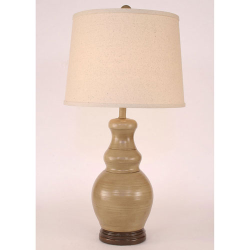 Casual Living Glazed Cottage and Coffee One-Light Table Lamp